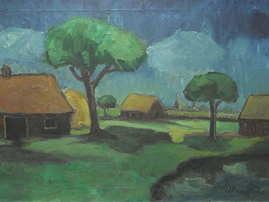 Piet van Wijngaerdt - Boerderij in landschap