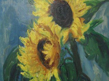 Piet van Wijngaerdt - Zonnebloemen