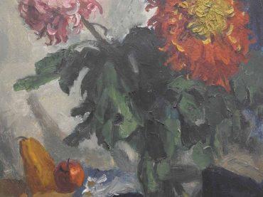 Piet van Wijngaerdt - Bloemstilleven met fruit