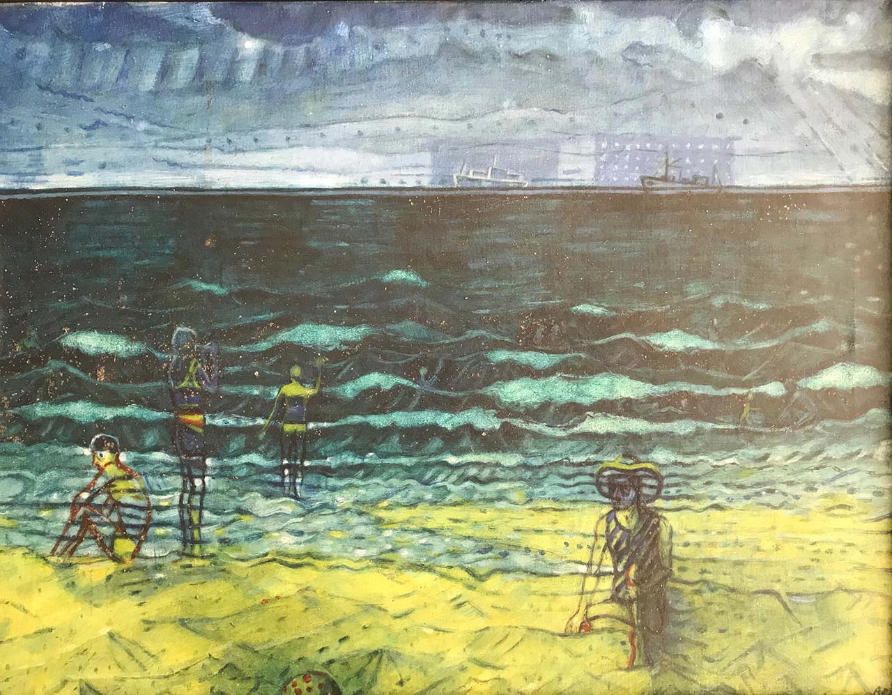 Anton Rinzema - Figuren op het strand