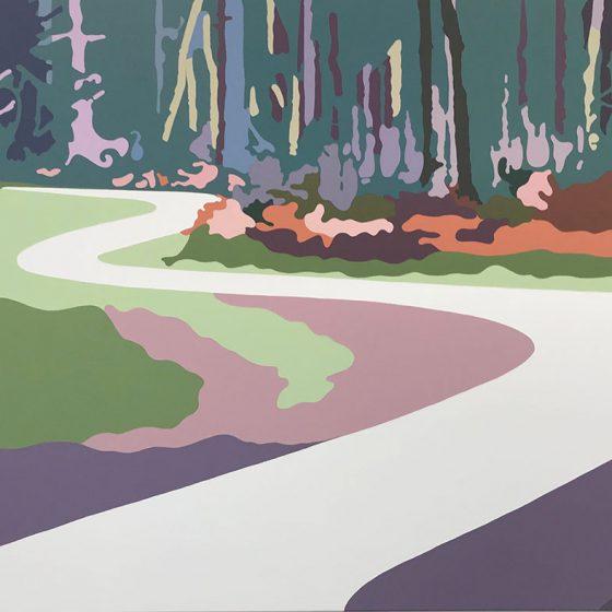 Titia Sibson - Weg door het bos