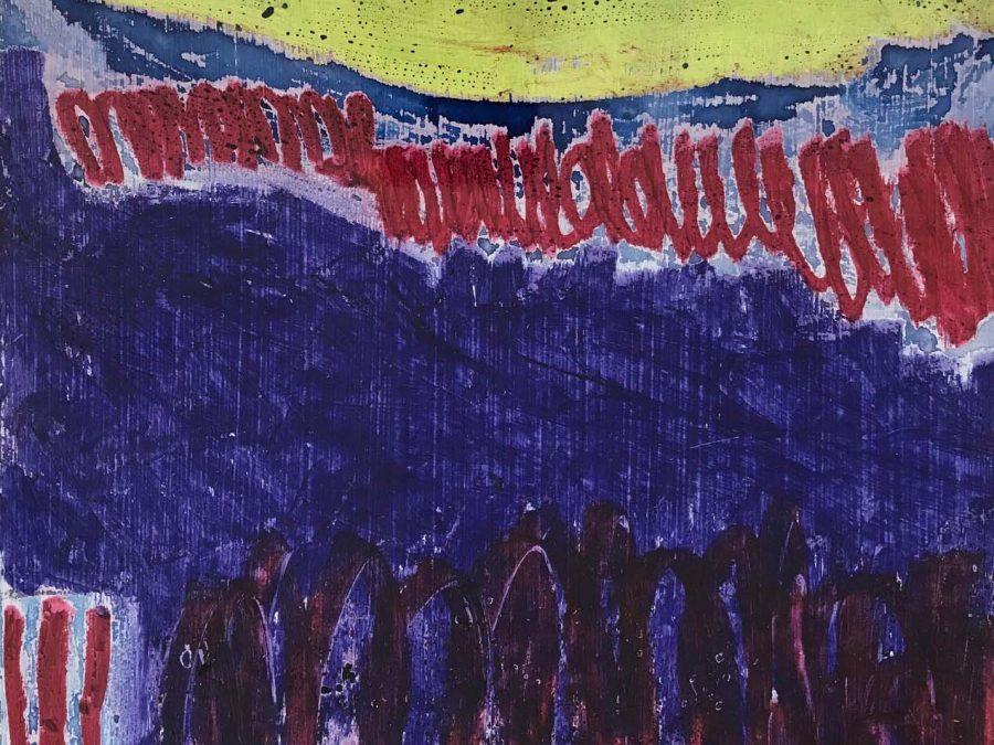 Ilse Brul - Zonder Titel (blauw/geel/magenta)
