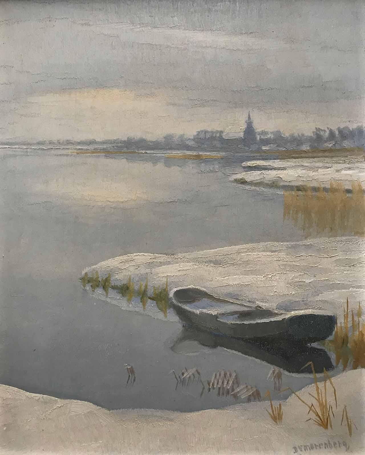 Dirk Smorenberg - Winters plassengezicht