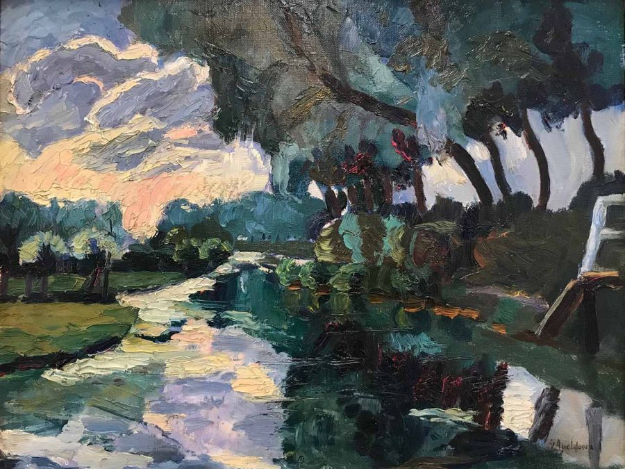 G.W. van Apeldoorn - Bomen aan de vaart
