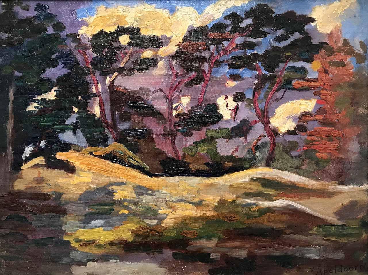 G.W. van Apeldoorn - Bos in herfst