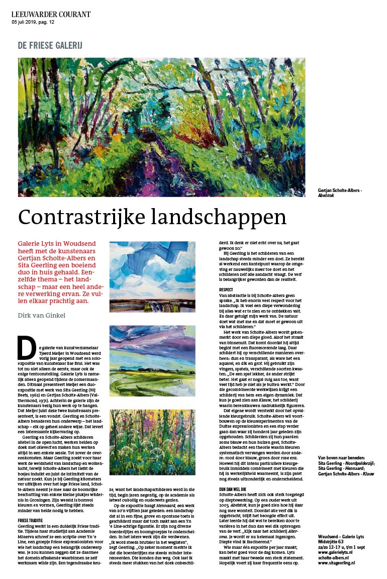 Galerie Lyts - Leeuwarder Courant - 07-19