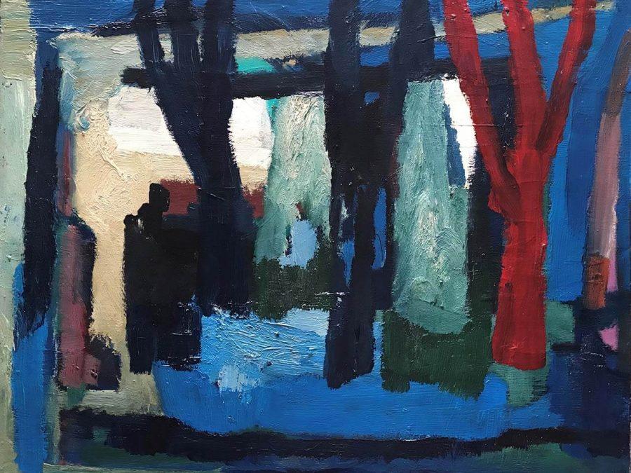Gerrit Benner - Bomen aan het water